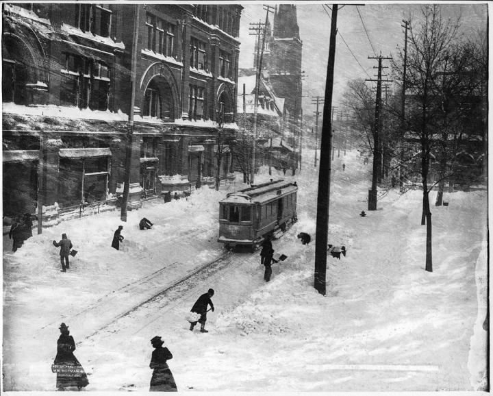 Tempête de neige près de chez Morgan