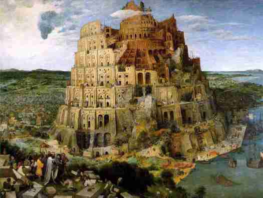 La Tour de Babel selon Breughel l'Ancien