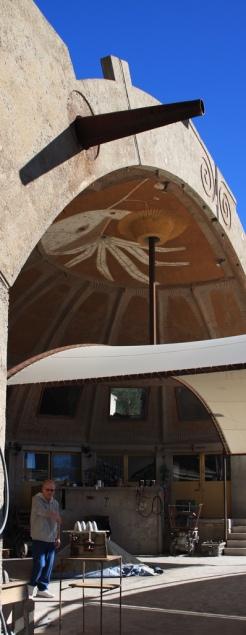 Arcosanti ateliers artisans air libre