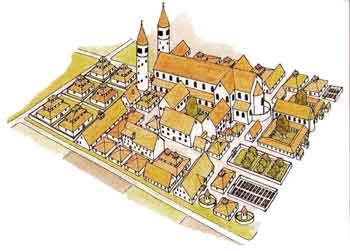 Plan 3D du monastère de Saint Gall