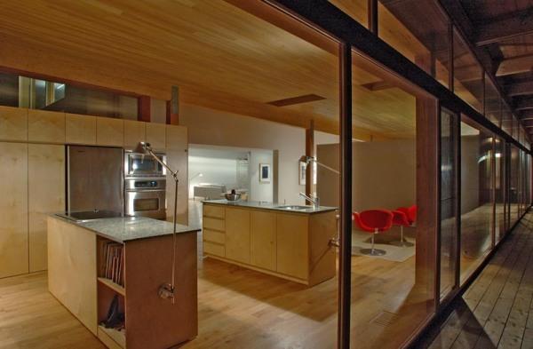 L'espace cuisine de la résidence Les Abouts
