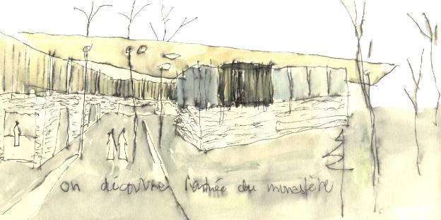 Croquis découverte du monastère