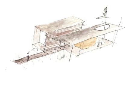 Esquisse les Abouts Pierre Thibault Architecte