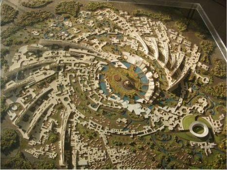 Maquette du plan d'urbanisme d'Auroville - Gracieuseté du site utopies.skynetblogs.be
