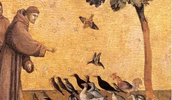 Saint François d'Assise et les oiseaux extrait du Bréviaire des patriotes