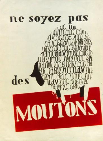 Ne soyez pas des moutons Affiche MAI 68