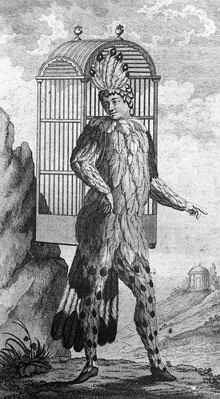 Dessin représentant Papageno par Emanuel Schikaneder Gracieuseté Wikipédia